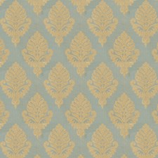 Teal Medallion Drapery and Upholstery Fabric by Fabricut