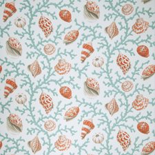 Coral Tropical Drapery and Upholstery Fabric by Fabricut