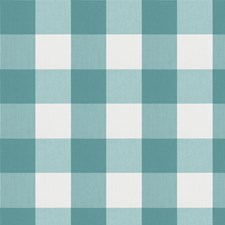 Aquamarine Check Drapery and Upholstery Fabric by Fabricut