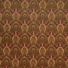 Carmine Print Pattern Drapery and Upholstery Fabric by Fabricut