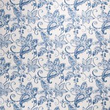 Batik Blue Paisley Drapery and Upholstery Fabric by Fabricut