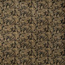 Ebony Paisley Drapery and Upholstery Fabric by Fabricut