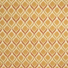 Persimmon Flamestitch Drapery and Upholstery Fabric by Fabricut