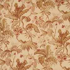 Teastain Leaves Drapery and Upholstery Fabric by Vervain