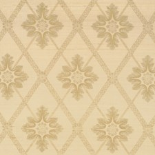 Champagne Floral Drapery and Upholstery Fabric by Vervain