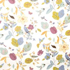 Orchid Animal Drapery and Upholstery Fabric by Vervain