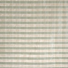 Turquoise Check Drapery and Upholstery Fabric by Vervain
