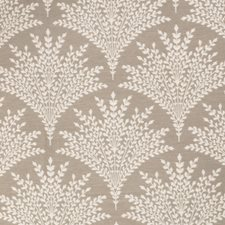 Harbor Gray Leaves Drapery and Upholstery Fabric by Stroheim
