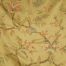 Avocado Floral Drapery and Upholstery Fabric by Trend