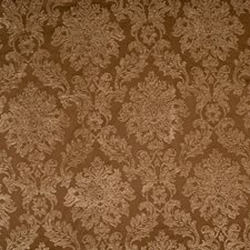 Coffee Damask Drapery and Upholstery Fabric by Trend