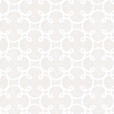 Ivory Silver Embroidery Drapery and Upholstery Fabric by Fabricut