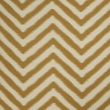 Ochre Flamestitch Drapery and Upholstery Fabric by Fabricut