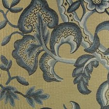Indigo Drapery and Upholstery Fabric by B. Berger