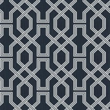Denim Lattice Drapery and Upholstery Fabric by Trend