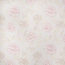 Coral Floral Drapery and Upholstery Fabric by Fabricut