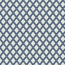 Cobalt Embroidery Drapery and Upholstery Fabric by Fabricut