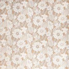 Cognac Floral Drapery and Upholstery Fabric by Fabricut
