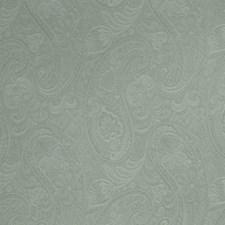 Aqua Paisley Drapery and Upholstery Fabric by Fabricut