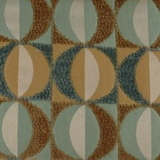 Gold/aqua Drapery and Upholstery Fabric by Duralee
