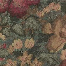 Green/Burgundy/Red Botanical Drapery and Upholstery Fabric by Kravet