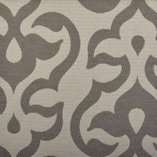 Grey Damask Drapery and Upholstery Fabric by Duralee