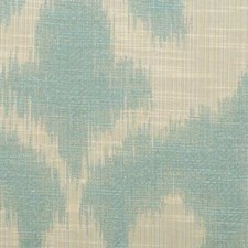 Turquoise Ikat Drapery and Upholstery Fabric by Duralee