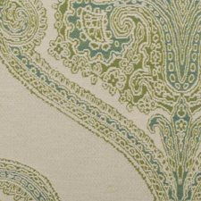 Aqua/Green Medallion Drapery and Upholstery Fabric by Duralee