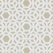 Mushroom Geometric Drapery and Upholstery Fabric by Duralee