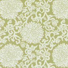 Spring Green Floral Medium Drapery and Upholstery Fabric by Duralee