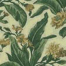 Beige/Green/Yellow Botanical Drapery and Upholstery Fabric by Kravet
