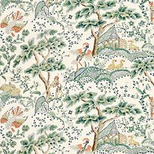 Leaf On Ivory Drapery and Upholstery Fabric by Scalamandre