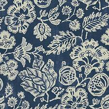 Indigo Print Drapery and Upholstery Fabric by Scalamandre