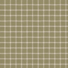 Olive Check Drapery and Upholstery Fabric by Fabricut