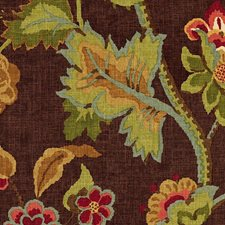 Mahogany Drapery and Upholstery Fabric by Schumacher