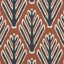 Brown/amp/Black Drapery and Upholstery Fabric by Schumacher