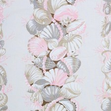 Pink/amp/Natural Drapery and Upholstery Fabric by Schumacher