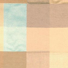 Gold/aqua Drapery and Upholstery Fabric by Highland Court