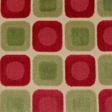 Raspberry/green Drapery and Upholstery Fabric by Highland Court