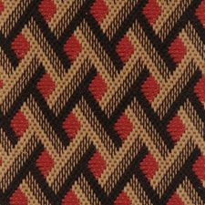 Red/black Drapery and Upholstery Fabric by Highland Court