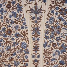 Cobalt Floral Large Drapery and Upholstery Fabric by Highland Court