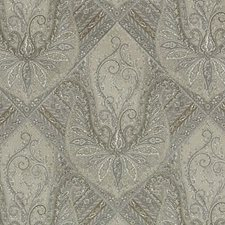 Mushroom Paisley Drapery and Upholstery Fabric by Highland Court