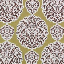 Gold/Red Damask Drapery and Upholstery Fabric by Duralee