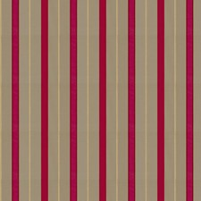 Magenta Stripes Drapery and Upholstery Fabric by Fabricut