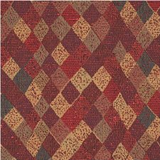 Burgundy/Red/Gold Diamond Drapery and Upholstery Fabric by Kravet