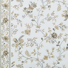 Linen/Charcoal Floral Medium Drapery and Upholstery Fabric by Duralee