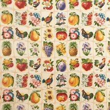 Cream Botanical Drapery and Upholstery Fabric by Lee Jofa