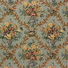 Blue Print Drapery and Upholstery Fabric by Lee Jofa