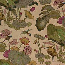 Cream Print Drapery and Upholstery Fabric by Lee Jofa