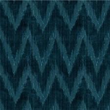 Indigo Flamestitch Drapery and Upholstery Fabric by Lee Jofa