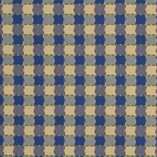 Sun/Navy Check Drapery and Upholstery Fabric by Lee Jofa